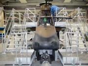 Dock de maintenance d'hélicoptère tigre