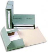 Dossier pour archivage à 3 rabats, dos de 6 cm, en carton vert, fermeture par élastique - Extendos