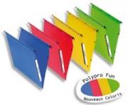 Dossiers suspendus polypro fun 330, fond 15mm bleu pour armoire - L'Oblique AZ