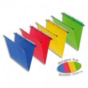 Dossiers suspendus polypro fun 330, fond V rouge pour tiroir - L'Oblique AZ