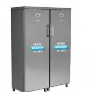 Double armoire à froid négatif - 740 L (2x 370 L) - Froid : Négatif - Porte pleine