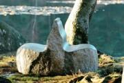 Double banc en granit - Poids : 2000 kg