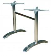 Double pied fonte ou inox pour restaurant - Double pied pour plateau 4 personne et plus