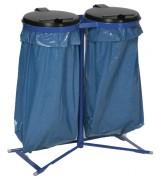 Double support sac poubelle - Diamètre ouverture (mm) : 350