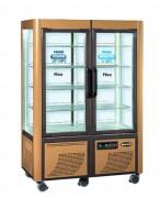 Double vitrine réfrigérée fixe négative - Froid négatif -5 -20°C