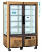 Double vitrine réfrigérée fixe/rotative - Froid positif +2 +10°C