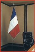 Drapeau de bureau pour mairie - Drapeau français 90 x 90 cm