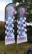 Drapeau flag pour exterieur - Dimensions : 170 x 50 cm - structure aluminium   fibre de verre
