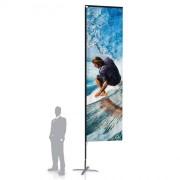 Drapeau publicitaire Flag géant - Axe de rotation 360°par roulement à billes