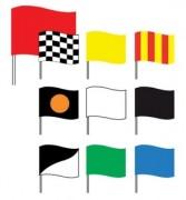 Drapeaux de courses automobiles - Dimensions : 60 x 80 cm - drapeau rouge : 80 x 100 cm
