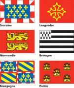 Drapeaux des provinces françaises - Plusieurs dimensions disponibles