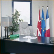 Drapeaux intérieur français pour mairie - Ensemble de drapeaux de 90 x 90 cm