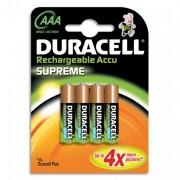 DURACELL Blister de 4 accu rechargeables AAA/HR03 1,2volt +CCR - DURACELL