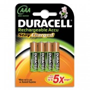 DURACELL Blister de 4 accus AAA/HR03 rechargeables active charge 4087842 + CCR