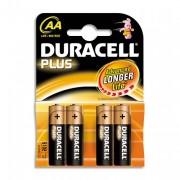 DURACELL PLUSlister de 4 pile LR06 AA - DURACELL