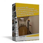 E learning sur étagère habilitations électriques BS BE HE - Exécuter en sécurité des opérations simples