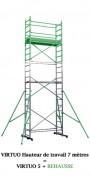 Echafaudage aluminium à stabilisateurs coulissants - Rehausse pour hauteur de travail (Gamme Europro)