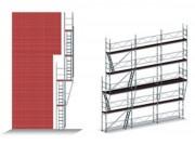 Echafaudage de façade déportée - Montage sur façade déportée