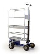 Échafaudage roulant électrique - Hauteur plateforme : 1162 mm