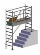 Échafaudage sur plan incliné - Demi portique de 1 m et montants