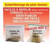 Echantillonnage de plats témoins - Sac stériles ATL