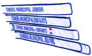 Echarpe conseil municipal jeune - En sergé polyamide
