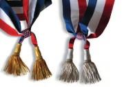 Echarpes colliers pour maires et adjoints - Tissu ottoman largeur 11 cm