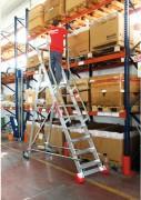 Echelle entrepôt mobile - Hauteur complète de l'échelle (m) : 3.74