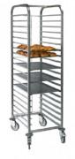 Echelle pâtisserie avec barre d'arrêt - 15 ou 20 niveaux - Dimensions (L x l x H) mm : 662 x 412 x 1775