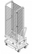 Échelle porte plateaux inox - Muni de structure pour 20 niveaux GN-2/1.