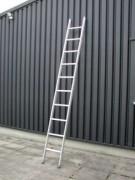 Echelle simple aluminium à marches renforcées - Capacité de charge (kg) : 150 - Longueurs (m) : de 1,95 à 6.42