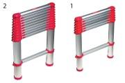 Echelle télescopique portable - Longueur (m) : 2 - 3,3