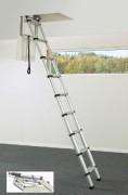 Echelle télescopique pour toit - Fixe ou réglable - Largeur de marche (mm) : 90
