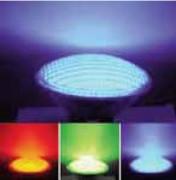 Eclairage LED multicolore pour piscine - Puissance : 15 W - Tension : 12 V AC ; 50-60 Hz