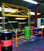 Ecluse de sécurité coulissante palettes - Position intermédiaire neutralisante