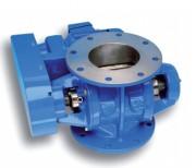 Écluse rotative acier inoxydable - Cylindrée de 2,5 à 125 L/tour
