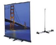 Ecran de projection mural et sur pied 4/3 - Ecran manuel transportable Da-lite de 2.44 à 3.05 m - Format 4/3