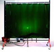Ecran de soudage mobile - Dimensions rideau (L x H) mm : 2000 x 1900 - 4000 x 1900
