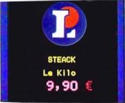 Ecran lumineux pour affichage de prix - Avec logo de la marque