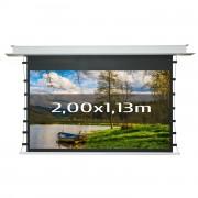 Écran projection tensionné et encastré - 8 tailles proposées: de 2 m à 3.40 m, format 16/9