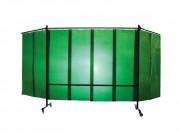 Ecrans mobiles d'atelier - Dimensions (mm) : 4000 x 2000