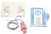Electrodes de défibrillation pédiatrique - Détrompeur pour connexion sur l'appareil