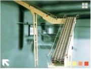 Elévateur à chaîne flex à maillons d'adhérence - Piètement ajustables