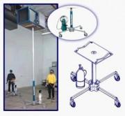 Elévateur de charge téléscopique - Charges maximales de 136kg.