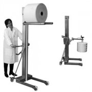 Elevateur manipulateur de bobines inox - Pour les bobines de films