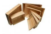 Emballages bois en contreplaqué personnalisé - Minimum de commandes 1000 emballages