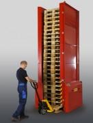 Empileur de palettes - Capacité : 25 palettes - Capacité de charge : 1000 kg