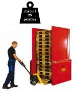 Empileur dépileur palettes - Capacité de stockage : 25 palettes