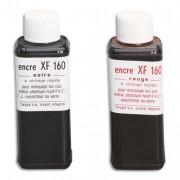 Encre à tampon grasse, pour timbres métalliques, flacon de 125ml noir - Tiflex