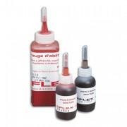 Encre à tampon sans huile, pour timbres caoutchoucs, flacon de 30ml rouge - Tiflex